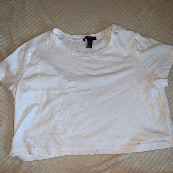 Forever 21 Tops - White Crop Top
